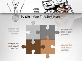 Hand drawing idea is money concept PowerPoint Templates - Slide 23