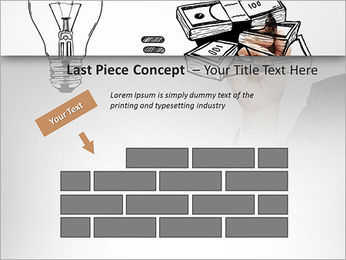 Hand drawing idea is money concept PowerPoint Templates - Slide 26