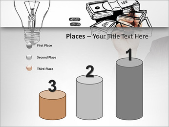 Hand drawing idea is money concept PowerPoint Templates - Slide 45