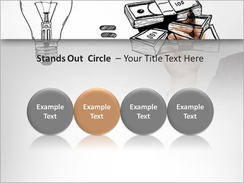 Hand drawing idea is money concept PowerPoint Templates - Slide 56