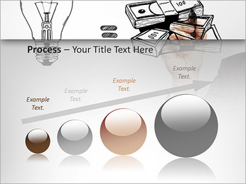 Hand drawing idea is money concept PowerPoint Templates - Slide 67