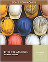 Old and worn colorful construction helmets Word Template - Page 1