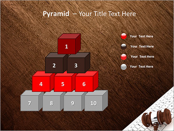 Justice Gavel and keyboard on a white background PowerPoint Templates - Slide 11