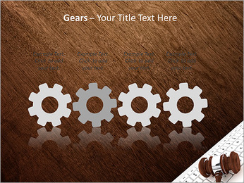 Justice Gavel and keyboard on a white background PowerPoint Templates - Slide 28