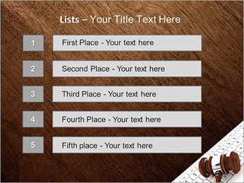 Justice Gavel and keyboard on a white background PowerPoint Templates - Slide 3