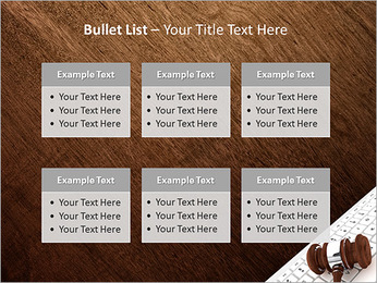 Justice Gavel and keyboard on a white background PowerPoint Templates - Slide 36