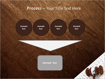 Justice Gavel and keyboard on a white background PowerPoint Templates - Slide 73
