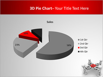 3d people - man, person with gear mechanism. PowerPoint Template - Slide 15