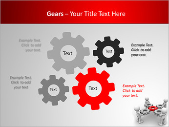 3d people - man, person with gear mechanism. PowerPoint Template - Slide 27
