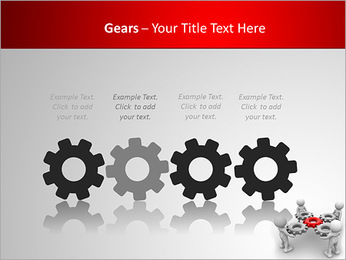 3d people - man, person with gear mechanism. PowerPoint Template - Slide 28
