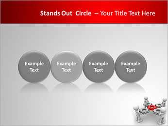 3d people - man, person with gear mechanism. PowerPoint Template - Slide 56