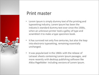 3d people - man, person with gear mechanism. PowerPoint Template - Slide 76
