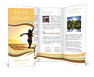 Woman Enjoys Sunset Brochure Templates