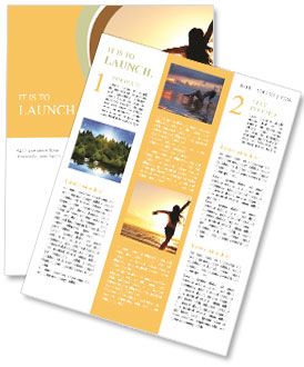 Woman Enjoys Sunset Newsletter Templates