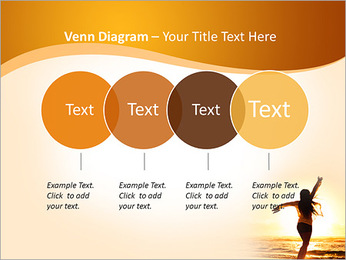 Woman Enjoys Sunset PowerPoint Template - Slide 12