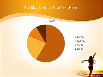 Woman Enjoys Sunset PowerPoint Template - Slide 16