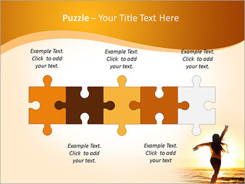 Woman Enjoys Sunset PowerPoint Templates - Slide 21
