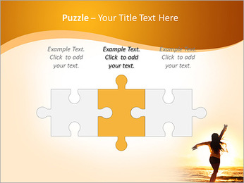 Woman Enjoys Sunset PowerPoint Template - Slide 22