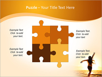 Woman Enjoys Sunset PowerPoint Template - Slide 23