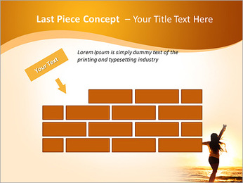 Woman Enjoys Sunset PowerPoint Template - Slide 26