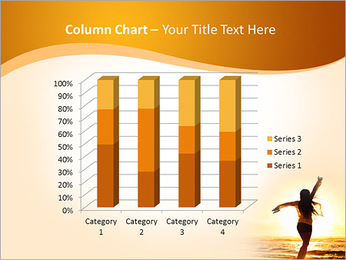 Woman Enjoys Sunset PowerPoint Template - Slide 30