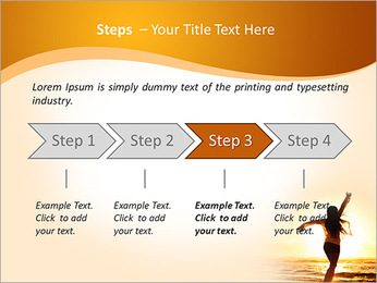 Woman Enjoys Sunset PowerPoint Template - Slide 4