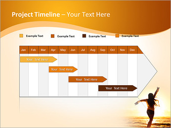 Woman Enjoys Sunset PowerPoint Template - Slide 5