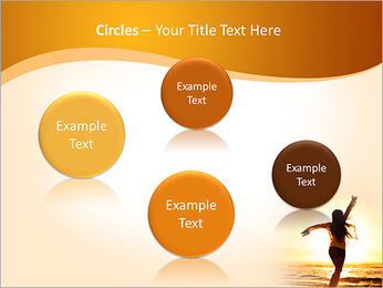 Woman Enjoys Sunset PowerPoint Template - Slide 57