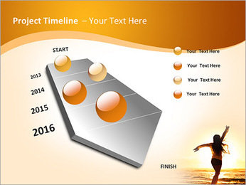 Woman Enjoys Sunset PowerPoint Template - Slide 6