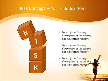 Woman Enjoys Sunset PowerPoint Template - Slide 61