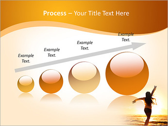 Woman Enjoys Sunset PowerPoint Template - Slide 67