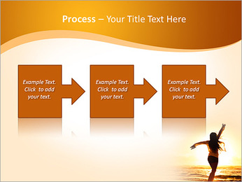 Woman Enjoys Sunset PowerPoint Template - Slide 68