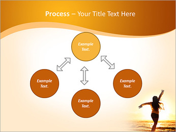 Woman Enjoys Sunset PowerPoint Template - Slide 71