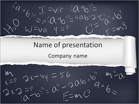 math formula powerpoint template backgrounds google slides id