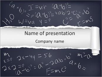 Math Formula PowerPoint Template
