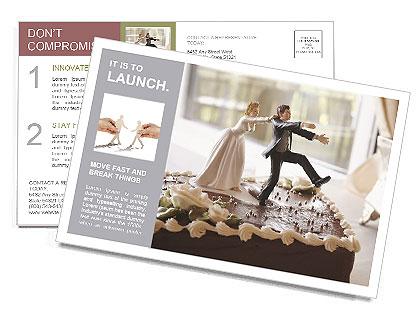 Wedding Cake Postcard Template