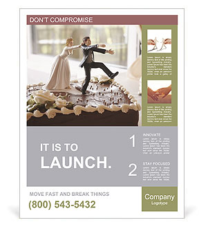 Wedding Cake Poster Template