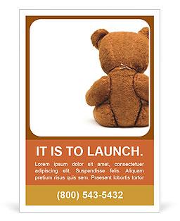 Brown Teddy Bear Ad Template