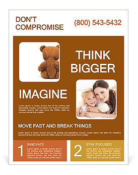 Brown Teddy Bear Flyer Template