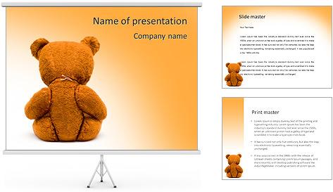 Brown Teddy Bear PowerPoint Template