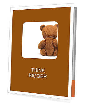 Brown Teddy Bear Presentation Folder