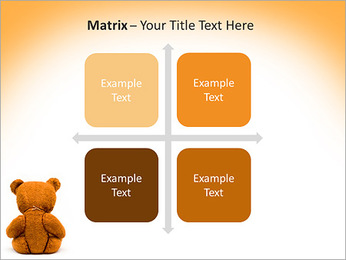 Brown Teddy Bear PowerPoint Template - Slide 17