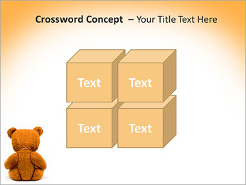 Brown Teddy Bear PowerPoint Template - Slide 19