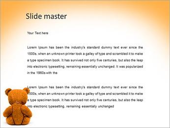 Brown Teddy Bear PowerPoint Template - Slide 2