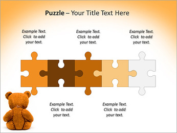 Brown Teddy Bear PowerPoint Template - Slide 21