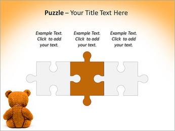 Brown Teddy Bear PowerPoint Templates - Slide 22