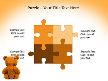 Brown Teddy Bear PowerPoint Templates - Slide 23