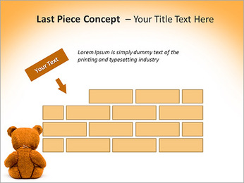 Brown Teddy Bear PowerPoint Template - Slide 26