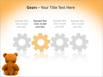 Brown Teddy Bear PowerPoint Templates - Slide 28