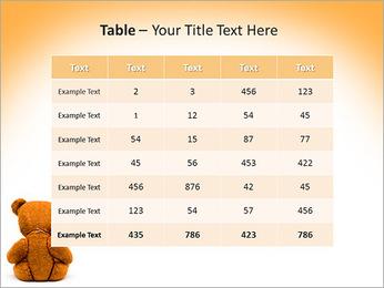Brown Teddy Bear PowerPoint Template - Slide 35